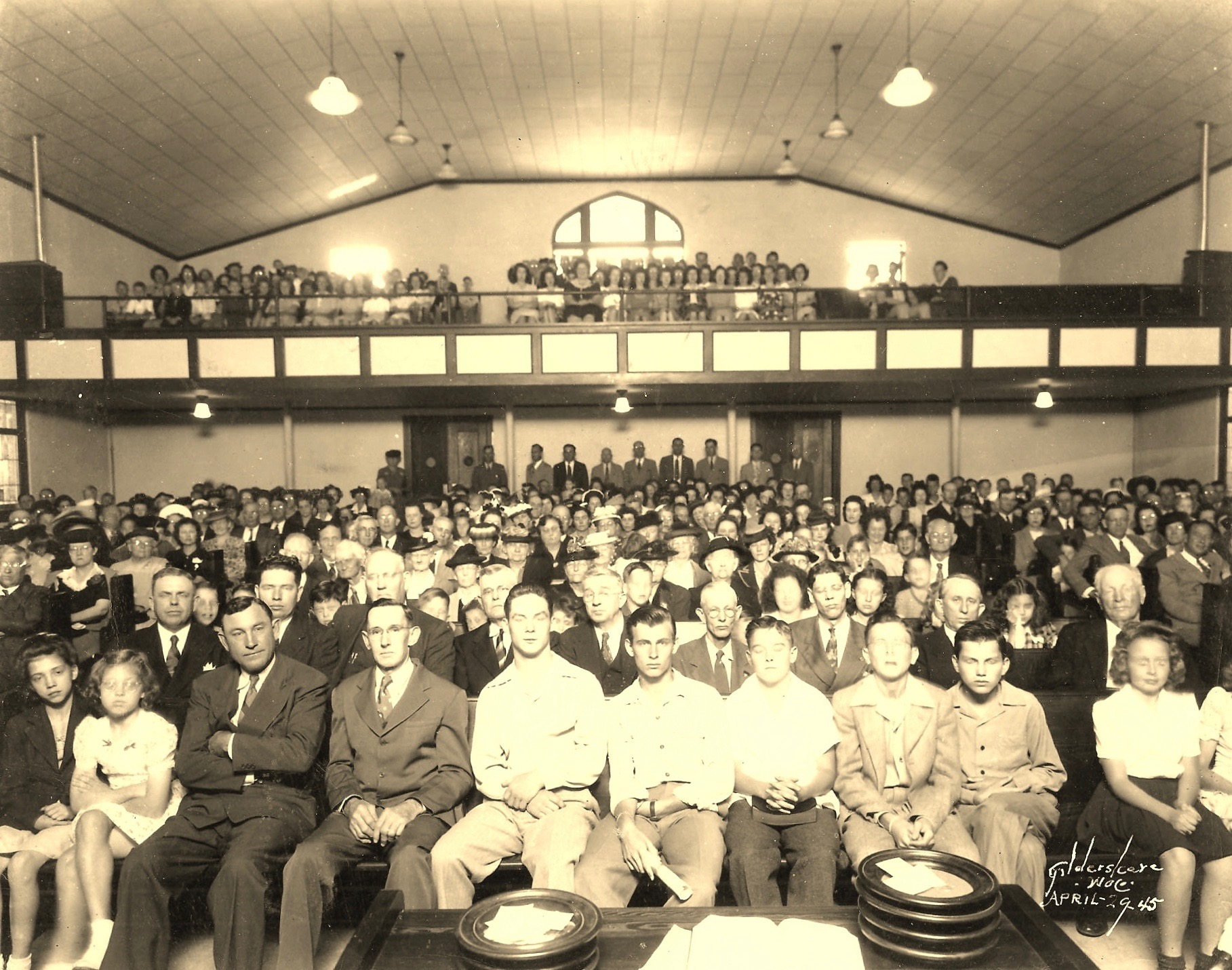 North Waco Baptist Church, April 29, 1945